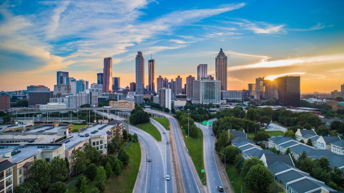 Skyline view of Atlanta