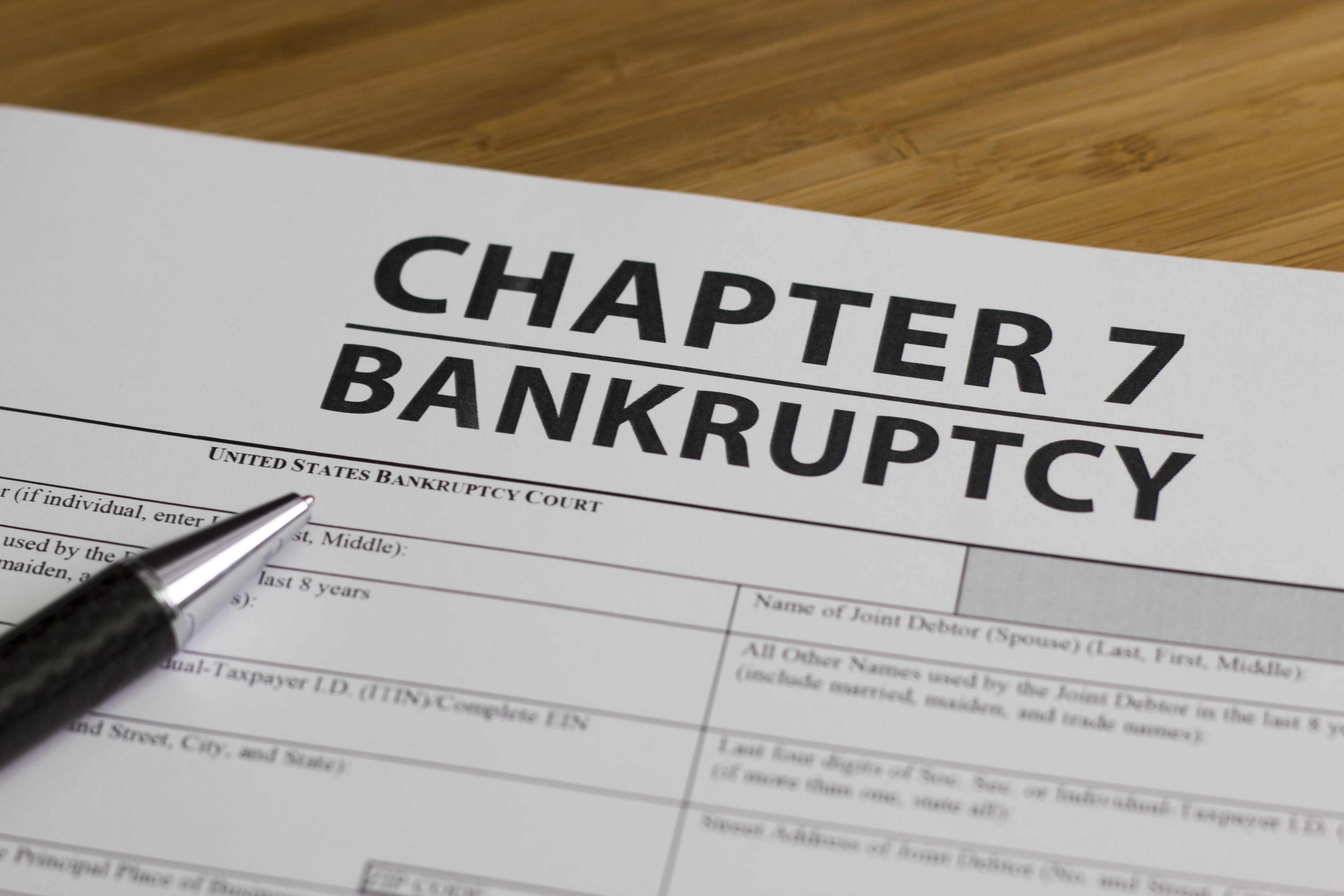 Chapter 7 bankruptcy petition.